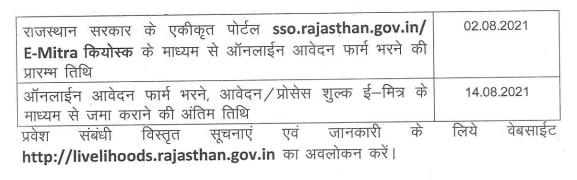 Rajasthan ITI Application Form 2021