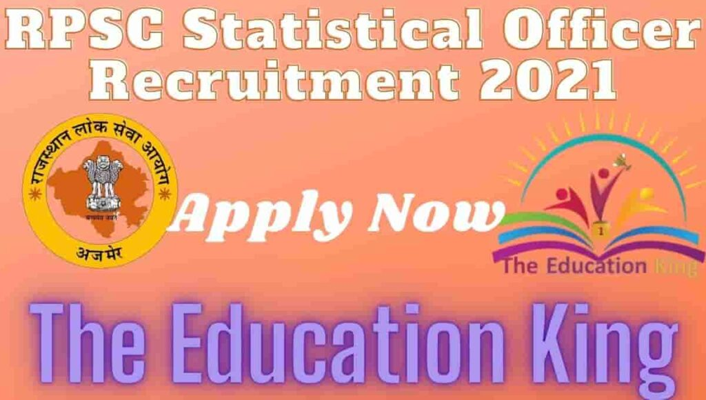 RPSC Statistical Officer Recruitment 2021