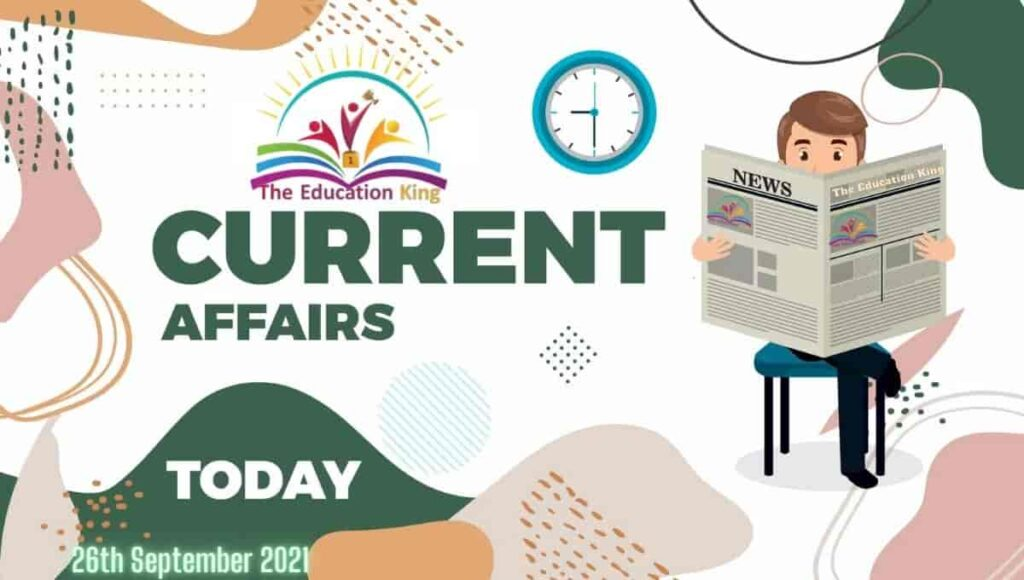26 September 2021 Current Affairs in Hindi