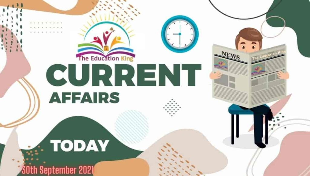29 September 2021 Current Affairs in Hindi