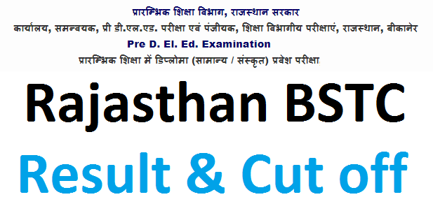 Rajasthan BSTC Cut off 2021