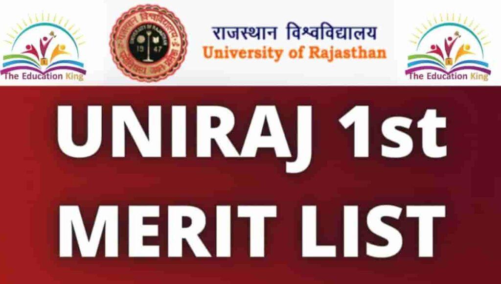 Rajasthan University Merit List 2021