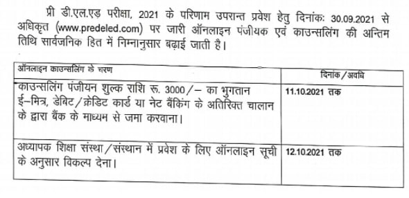 Rajasthan BSTC Counseling 2021